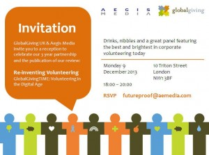 Invitation: Re-inventing Volunteering @ 10, TRITON STREET | Londres | Reino Unido