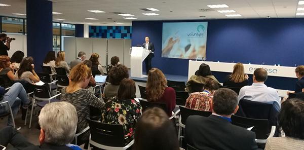 Poyatos habla de competencias y voluntariado en jornada voluntare en Endesa