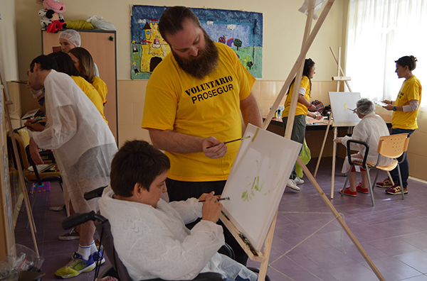 Taller pintura solidaria 2017 Prosegur