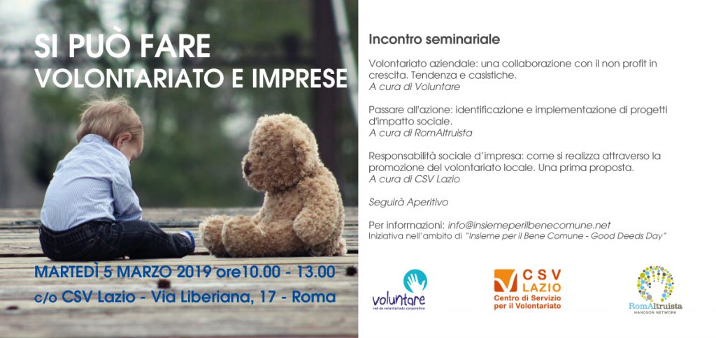 Voluntare voluntariado corporativo Roma