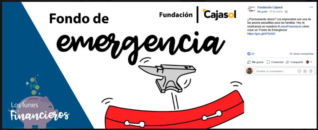 lunes financieros cajasol - fondo emergencia - facebook