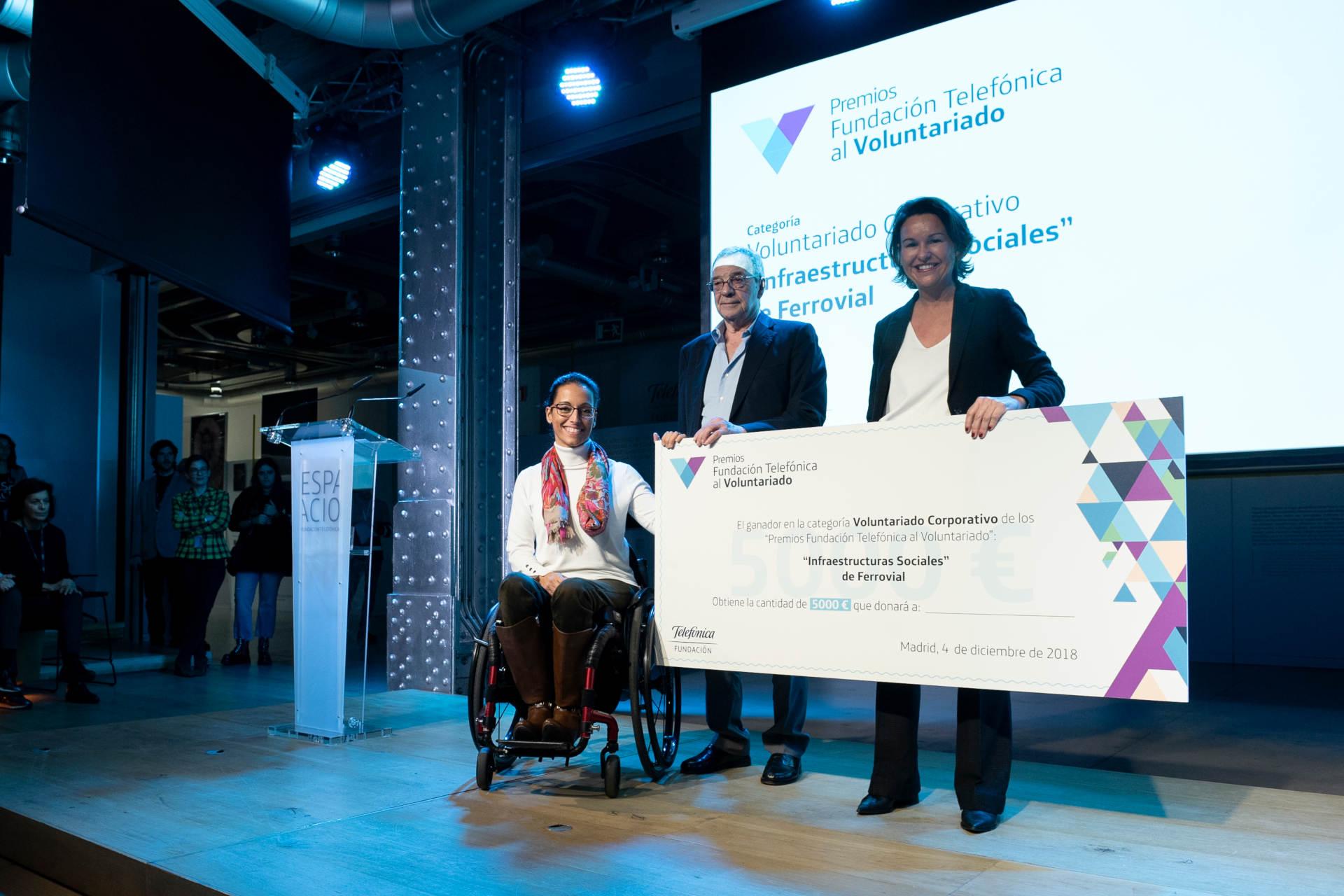 Premios Voluntariado Fundación Telefonica 2018 - Ferrovial - Infraestructuras Sociales - Voluntaraido Corporativo