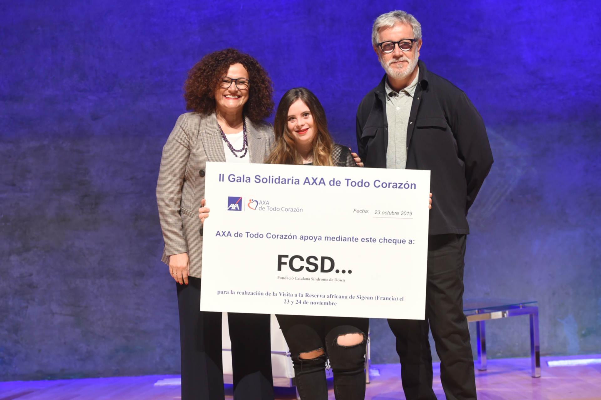Gala solidaria AXA de todo corazón barcelona 2019 fundacion catalana síndrome down