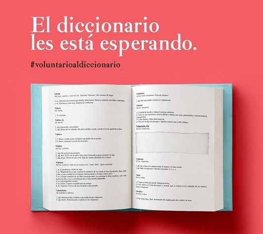 voluntario al diccionario