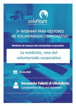 medicion webinar gestores voluntairado corporativo voluntare