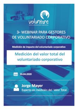 medicion webinar gestores voluntariado corporativo voluntare