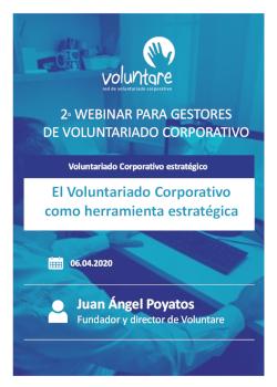 webinar gestores programas voluntariado coporativo voluntare voluntariado corporativo estrategico