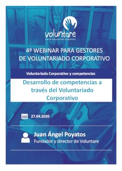 Juan Ángel Poyatos Voluntare Webinar competencias voluntarios gestores voluntariado corporativo