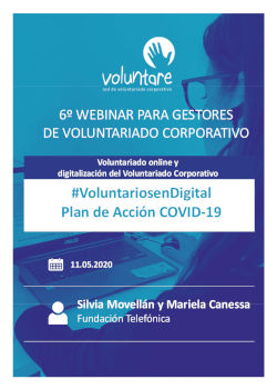 fundacion telefonica 6 webinar voluntariado online y digitalizacion voluntariado corporativo