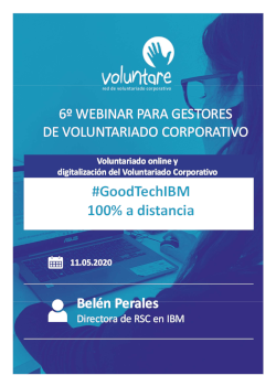 Belen Perales IBM 6 webinar voluntariado online y digitalización voluntariado corporativo