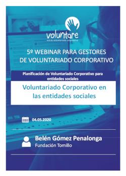 webinar voluntare gestores voluntariado corporativo planificación programas desde las entidades sociales