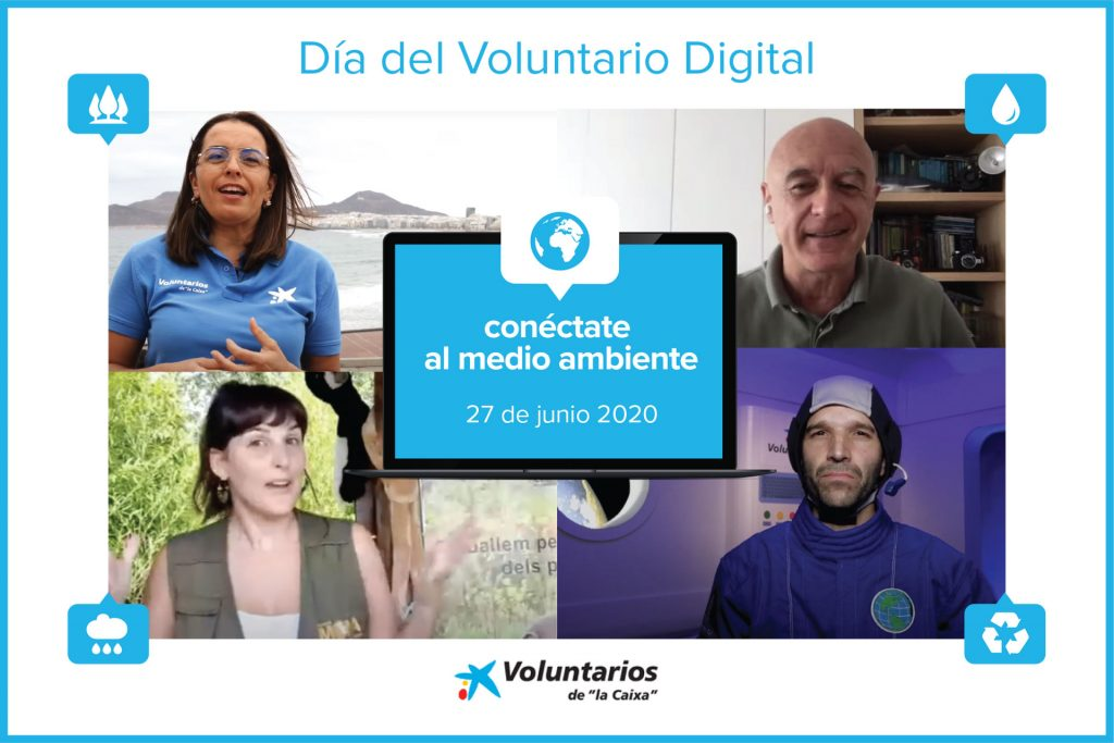 dia voluntario digital la caixa 2020