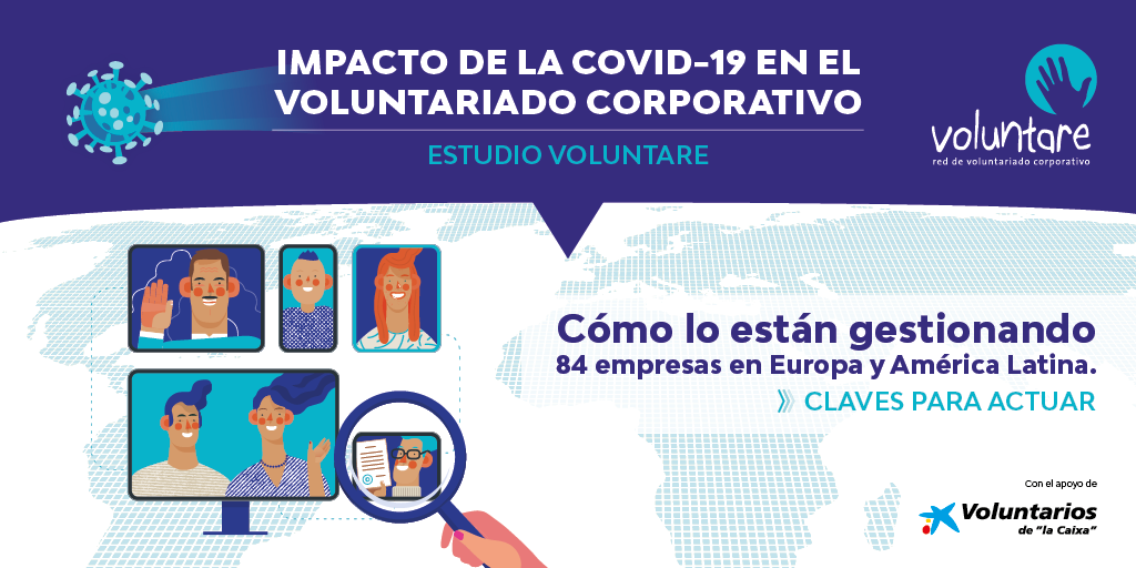 impacto covid 19 voluntariado corporativo voluntare asociacion voluntarios la caixa