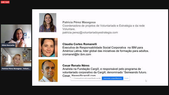 voluntariado no presencial coronavirus webinar GEVE