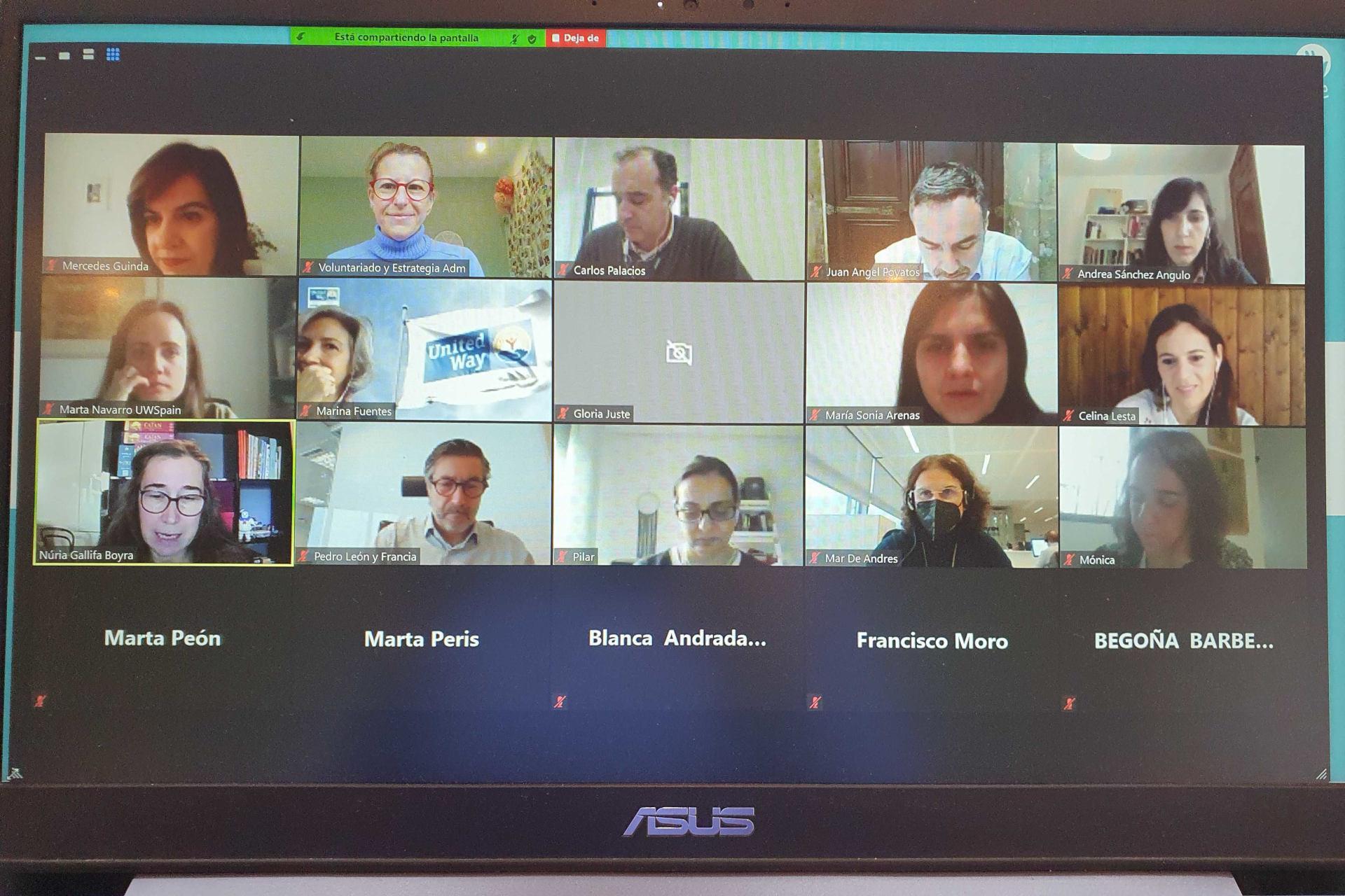 reunion socios voluntare para aprobar la programación de la red de 2021