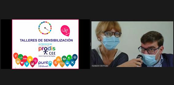 Fundación Prodis presenta sus talleres de sensibilización de la mano de uno de sus protagonistas en el Punto de Voluntariado de Voluntare 2021, primera edición virtual.
