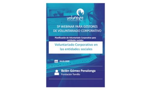 Voluntariado Corporativo en las entidades sociales