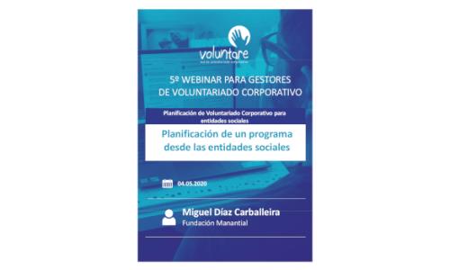 Planificación del Voluntariado Corporativo desde las entidades sociales