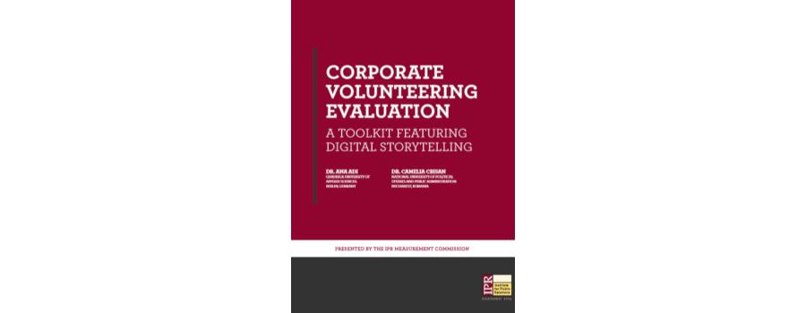 Corporate Volunteering Evaluation: a toolkit featuring digital storytelling